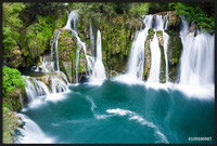 Waterfalls of Martin Brod on Una national park, Bosnia and Herzegovina  Ingelijste poster
