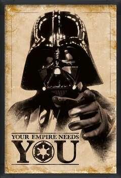 Ingelijste poster Star Wars - Your Empire Needs You