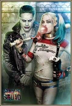 Ingelijste poster Suicide Squad - Joker and Harley Quinn