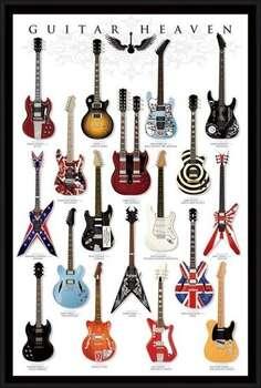 Ingelijste poster Guitar heaven