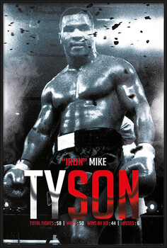 Ingelijste poster Mike Tyson - Boxing Record
