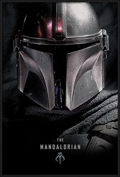 Ingelijste poster Star Wars: The Mandalorian - Dark