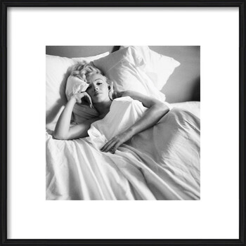 Ingelijste poster Marilyn Monroe - Bed