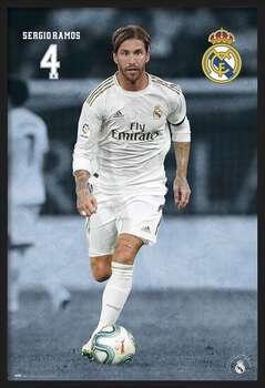 Ingelijste poster Real Madrid 2019/2020 - Sergio Ramos