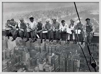 Ingelijste poster Lunch on a skyscraper