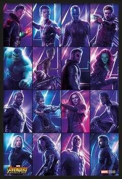Ingelijste poster Avengers: Infinity War - Heroes