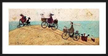 Ingelijste poster Sam Toft - Electric Bike Ride