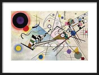 Ingelijste poster Wassily Kandinsky - Composition VIII