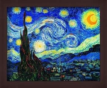 Ingelijste poster The Starry Night, June 1889
