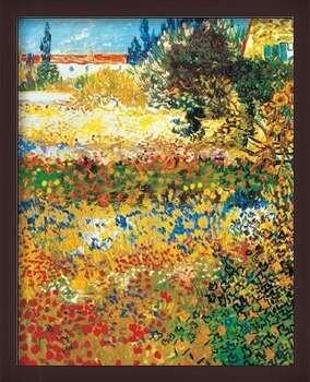 Ingelijste poster Flowering garden, 1898