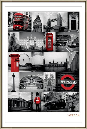 Londen - red collage Poster