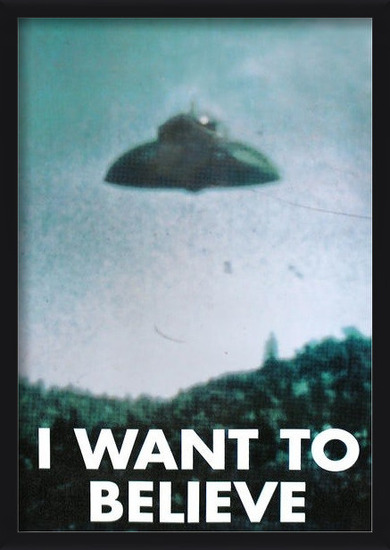 X-FILES - i want to believe Poster