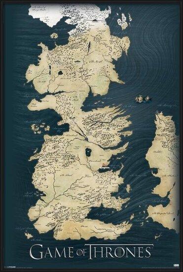 Wandkaart van Game of Thrones Poster