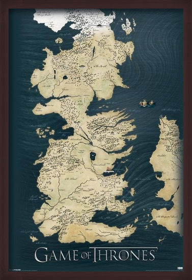 Wandkaart van Game of Thrones Poster