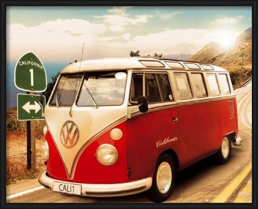 VW Californian camper Poster