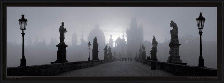 Prague – Charles bridge / b&w Poster