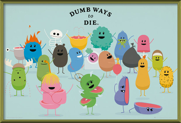 Dumb Ways to Die - Characters Poster