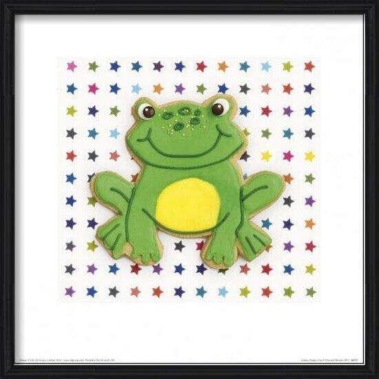 Howard Shooter and Lauren Floodgate - Happy Hoppy Frog Kunstdruk