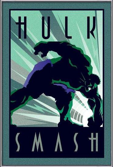 Marvel Deco - Hulk Poster