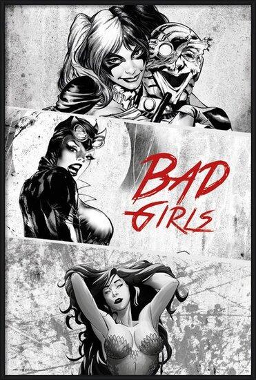 DC Comics - Badgirls (Zwart Wit) Poster