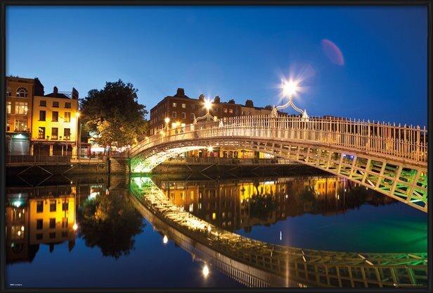 Dublin - Halfpenny Bridge Landscape Poster
