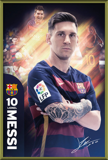 FC Barcelona - Messi 15/16 Poster