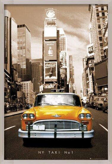 New York Taxi no.1 - sepia Poster