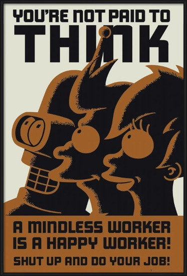 FUTURAMA - dont think Poster