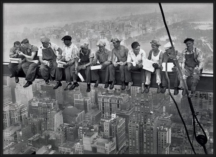 New York Kamer Accessoires : Bestel de Lunch on a skyscraper Poster op ...