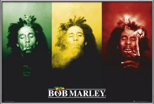 Bob Marley - flag Poster